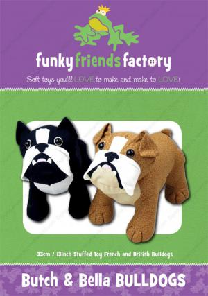 Butch and Bella Bulldogs sewing pattern Funky Friends Factory