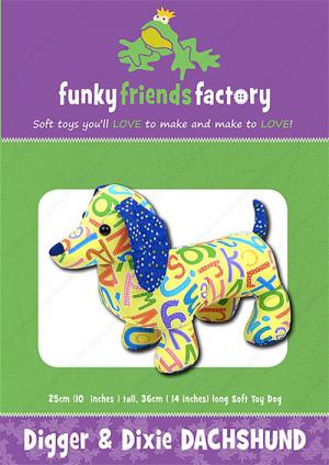 Digger & Dixie sewing pattern Funky Friends Factory