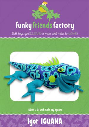 Igor Iguana sewing pattern Funky Friends Factory