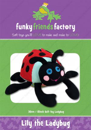 Lily the Ladybug sewing pattern Funky Friends Factory