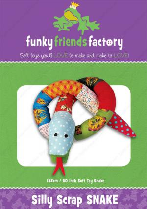Silly Scrap Snake sewing pattern Funky Friends Factory