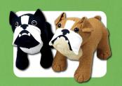 Butch and Bella Bulldogs sewing pattern Funky Friends Factory 1