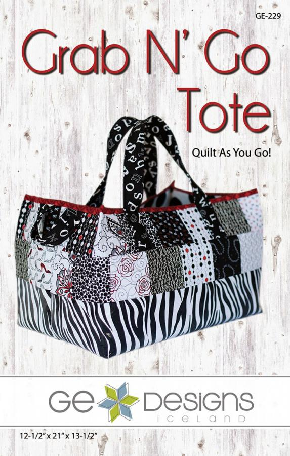 Grab and Go Tote sewing pattern from GE Designs