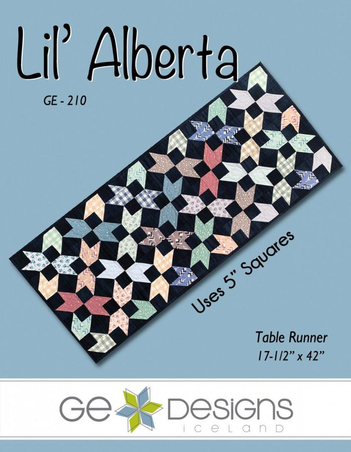 Lil Alberta table runner sewing pattern from GE Designs