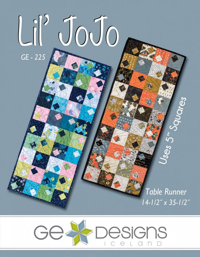 Lil JoJo table runner sewing pattern from GE Designs