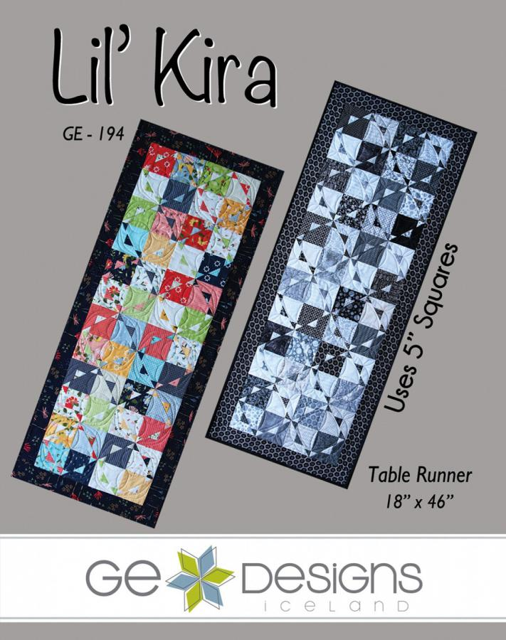 Lil Kira table runner sewing pattern from GE Designs