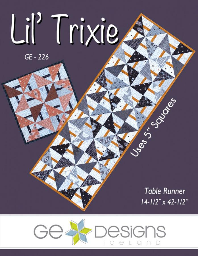 Lil Trixie table runner sewing pattern from GE Designs