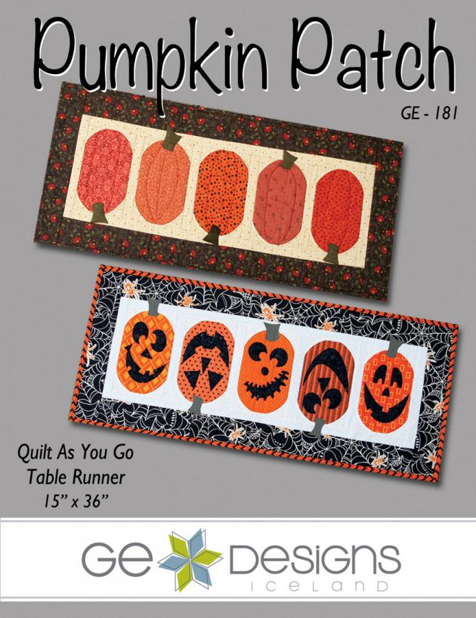 Pumpkin Patch table runner sewing pattern from GE Designs