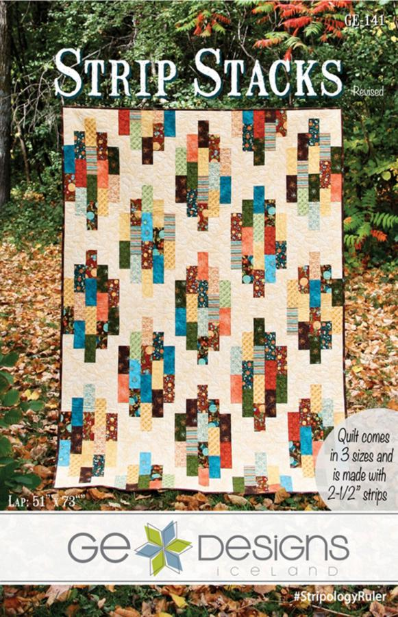 Strip Stacks quilt sewing pattern from GE Designs