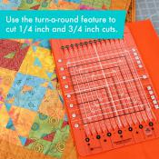 Creative Grids Stripology Squared MINI Quilt Ruler - CGRGE3 2