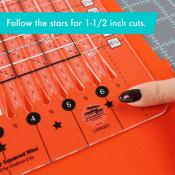 Creative Grids Stripology Squared MINI Quilt Ruler - CGRGE3 4