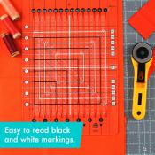 Creative Grids Stripology Squared MINI Quilt Ruler - CGRGE3 5