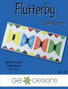 Flutterby table runner sewing pattern from GE Designs