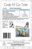 Grab and Go Tote sewing pattern from GE Designs 1