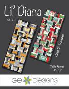 Lil Diana table runner sewing pattern from GE Designs