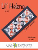 Lil Helena table runner sewing pattern from GE Designs