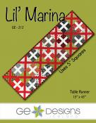 Lil Marina table runner sewing pattern from GE Designs
