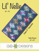 Lil Nellie table runner sewing pattern from GE Designs
