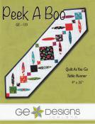 Peek A Boo table runner sewing pattern from GE Designs