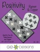 Positivity Topper and table runner sewing pattern from GE Designs