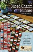 Sliced Charm table runner sewing pattern from GE Designs