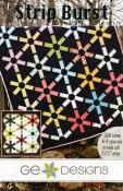 Strip Burst quilt sewing pattern from GE Designs