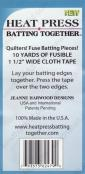 Heat Press Batting Together fusible cloth tape - 1 1/2