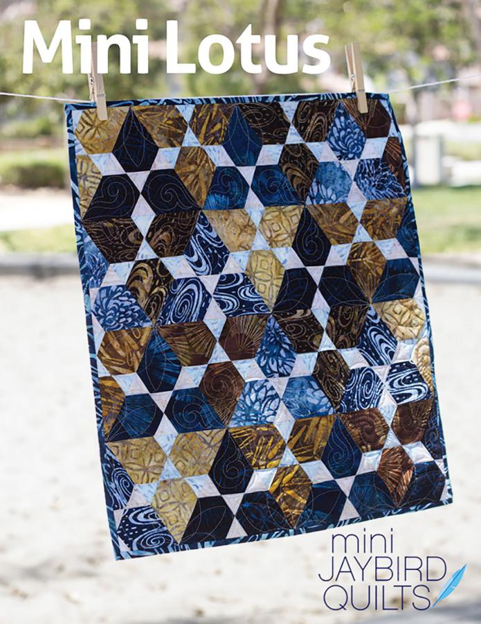 Mini Lotus quilt sewing pattern from Jaybird Quilts