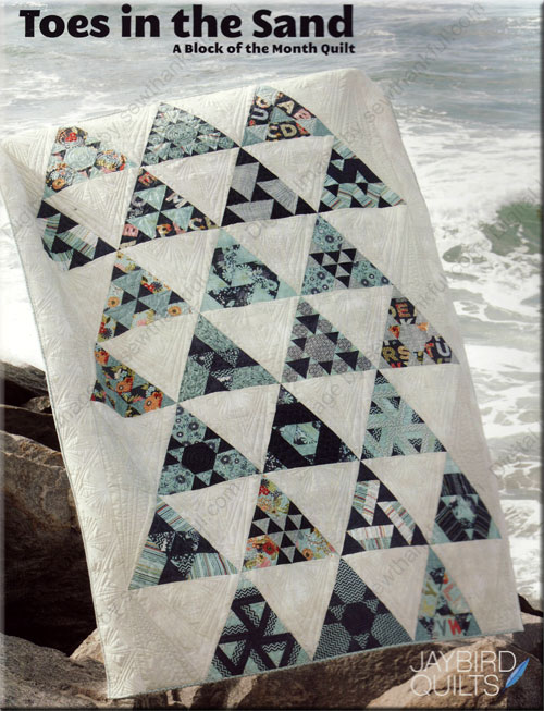 Toes In The Sand quilt sewing pattern book from Jaybird Quilts : jaybird quilt - Adamdwight.com