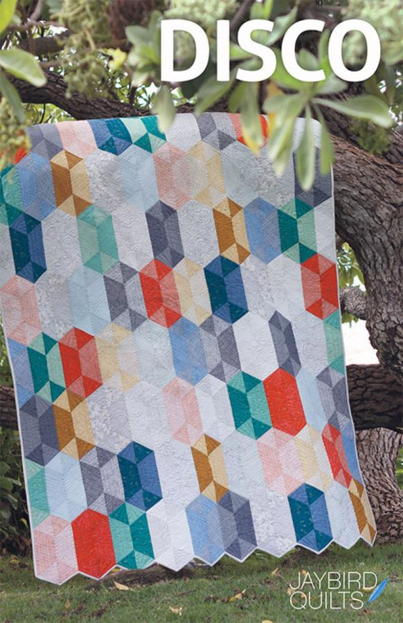 Disco quilt sewing pattern from Jaybird Quilts