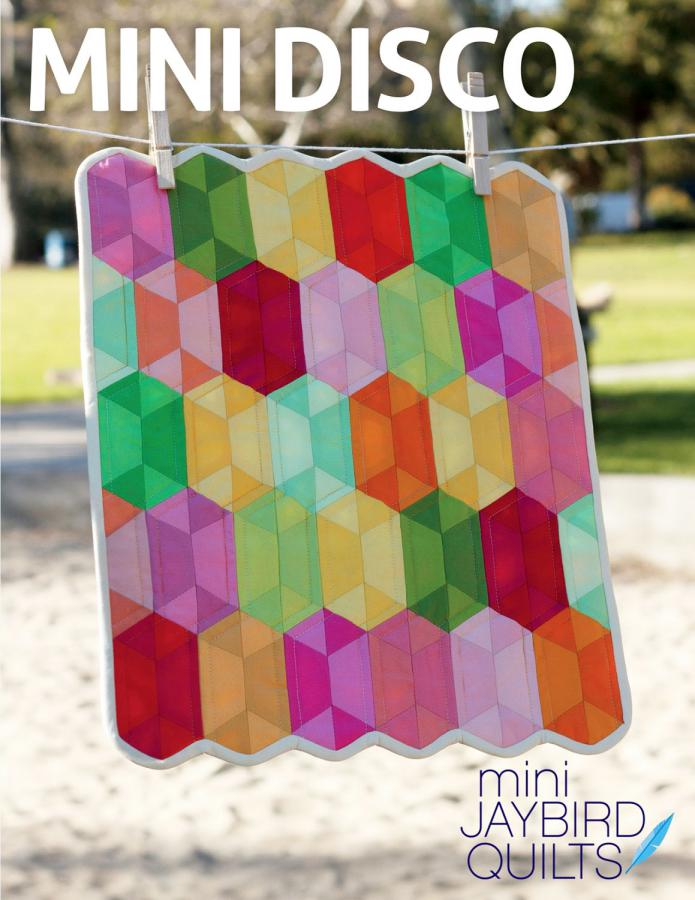 Mini Disco quilt sewing pattern from Jaybird Quilts