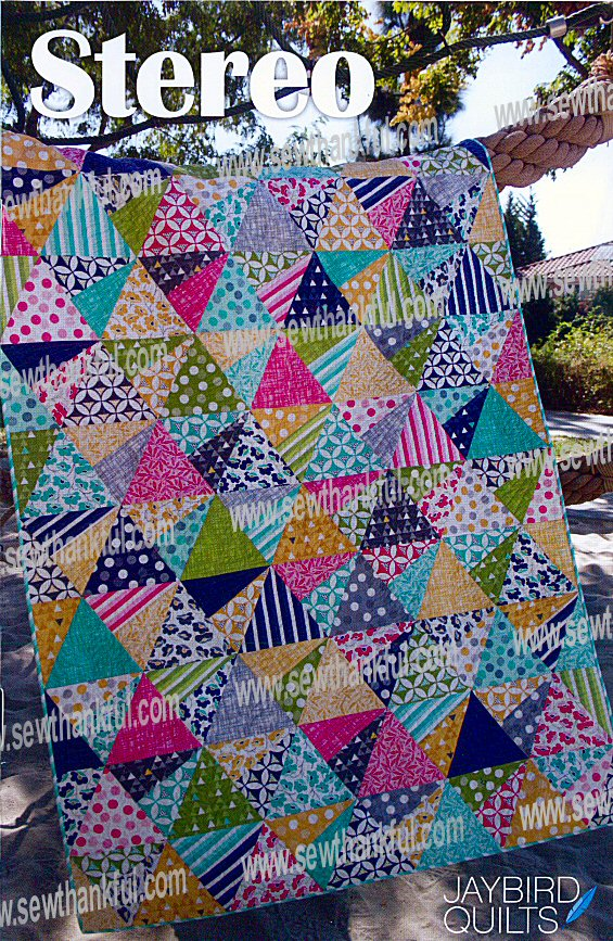 Jaybird Quilts Stereo Pattern : Stereo quilt sewing pattern from Jaybird Quilts