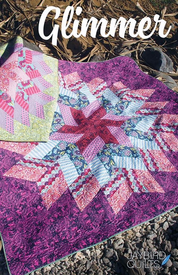 Glimmer quilt sewing pattern from Jaybird Quilts