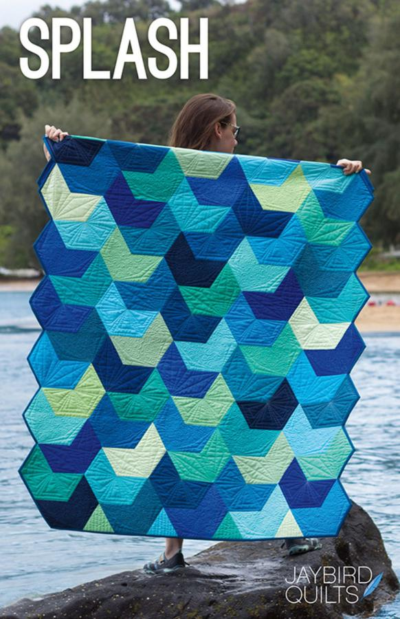 Splash quilt sewing pattern from Jaybird Quilts