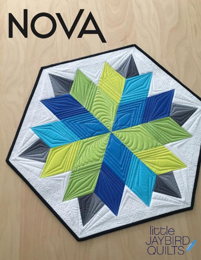 Nova Table Topper sewing pattern from Jaybird Quilts