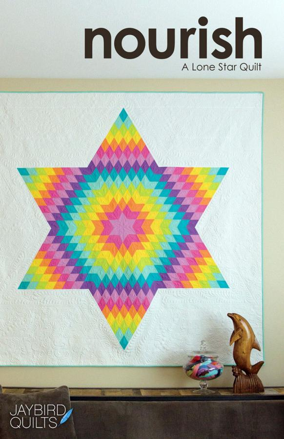 Nourish A Lone Star quilt pattern from Jaybird Quilts