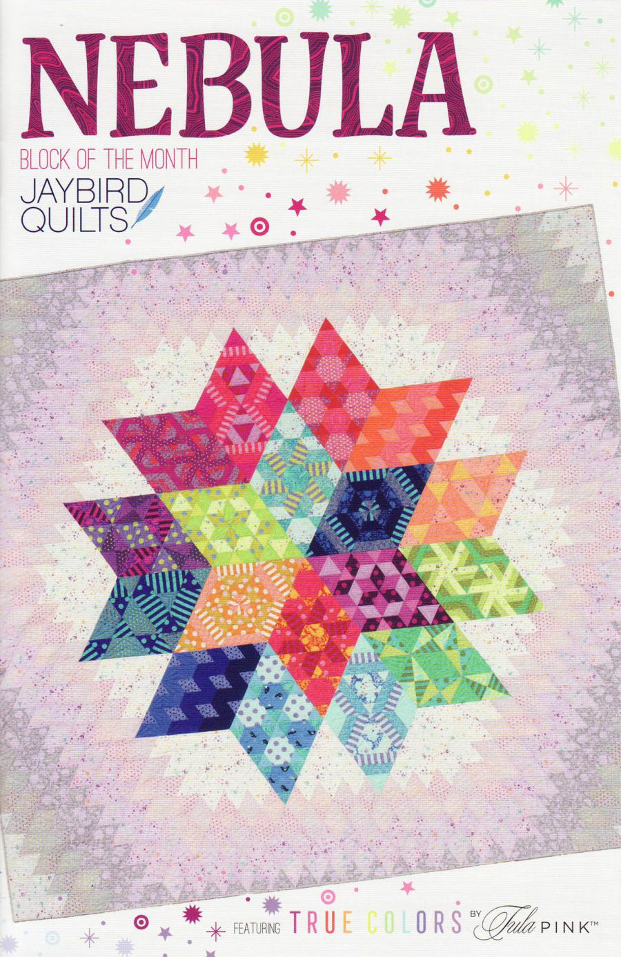 INVENTORY REDUCTION...Nebula Quilt - Block of the Month sewing pattern from Jaybird Quilts