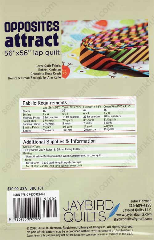 Opposite Attract Quilt Pattern From Jaybird Quilts