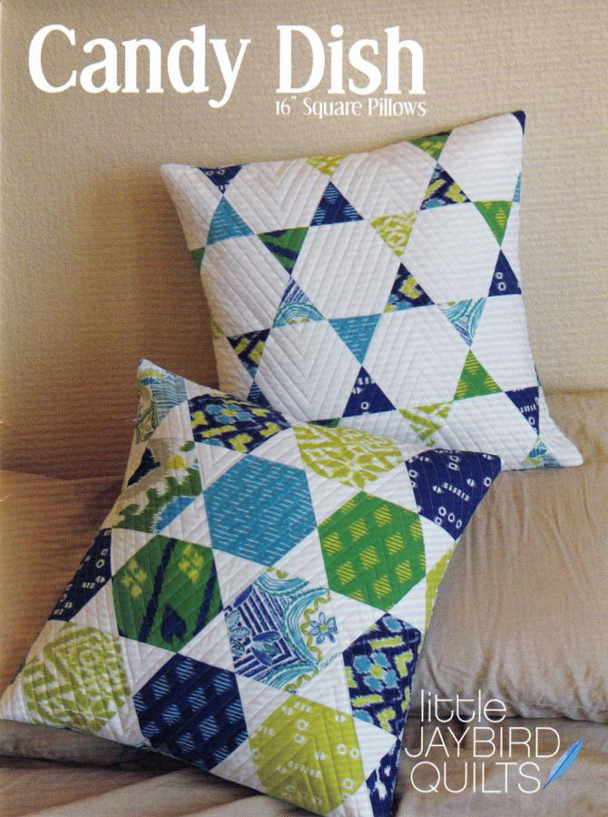 Candy Dish Pillow quilt pattern from Jaybird Quilts