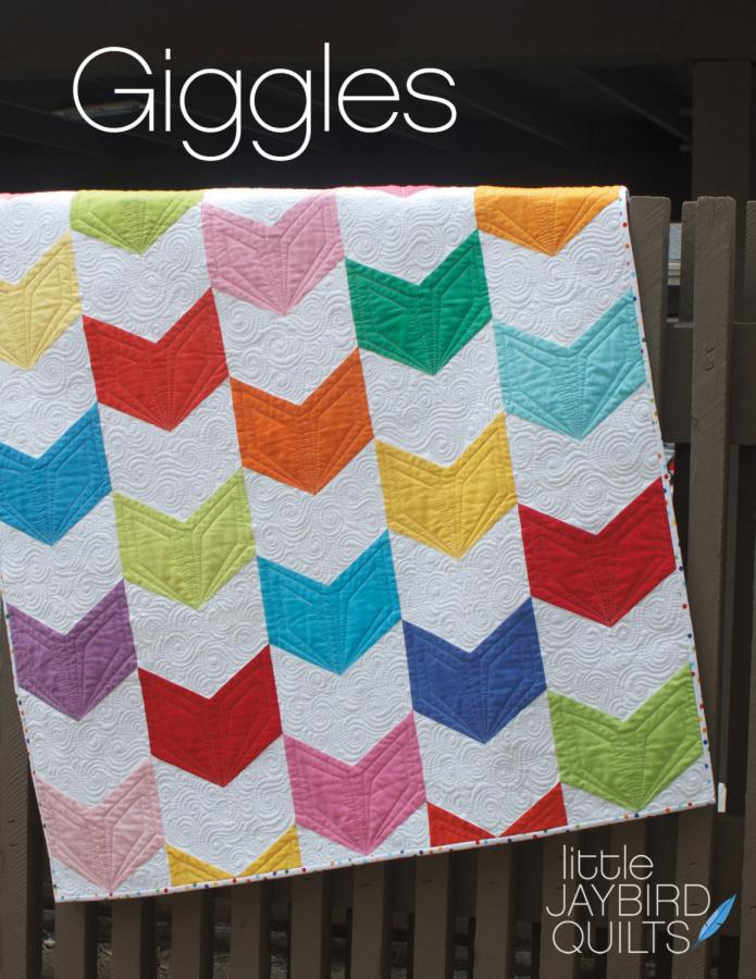 Giggles quilt sewing pattern from Jaybird Quilts
