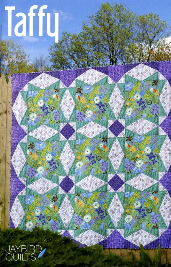 INVENTORY REDUCTION -- Taffy quilt sewing pattern from Jaybird Quilts