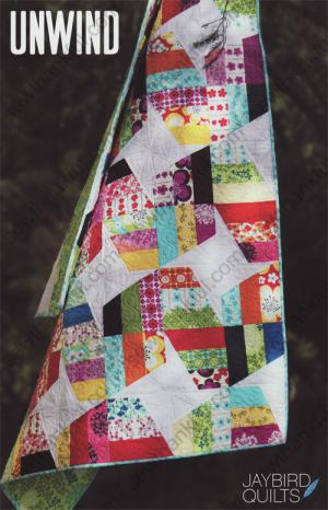 Unwind quilt sewing pattern from Jaybird Quilts