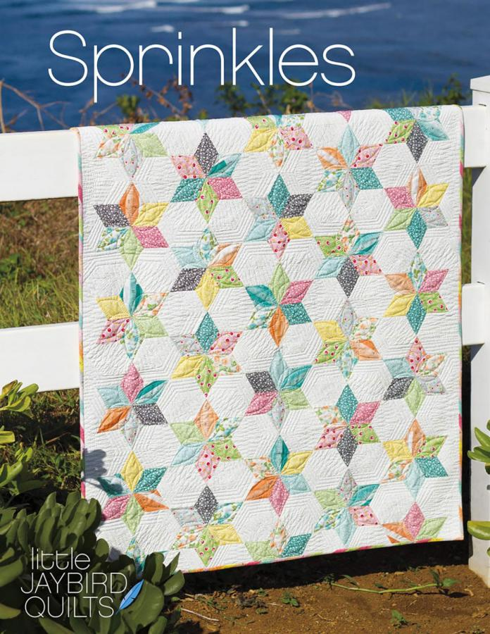 Sprinkles baby quilt sewing pattern from Jaybird Quilts