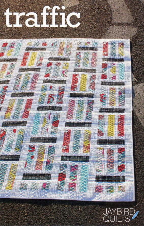 Traffic quilt sewing pattern from Jaybird Quilts