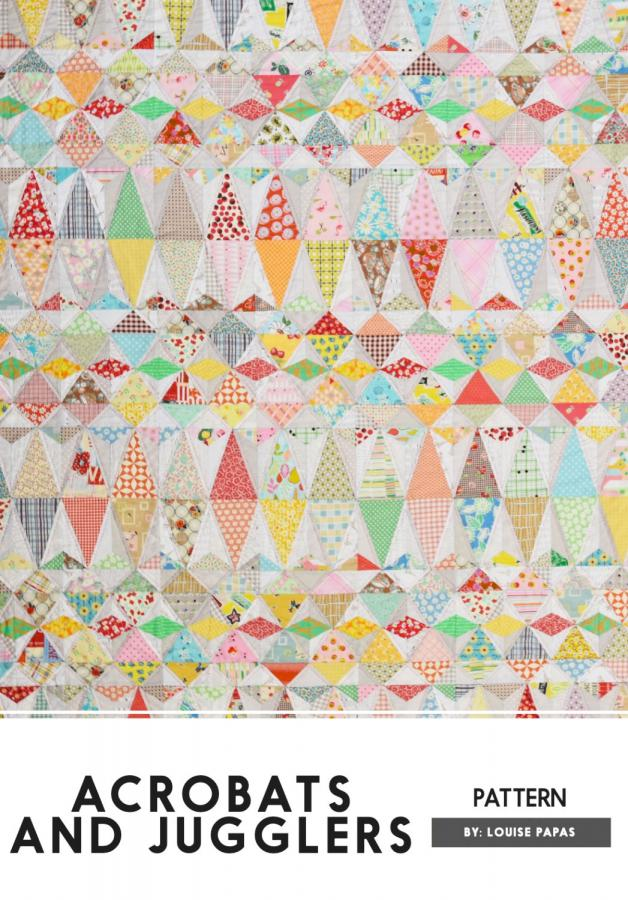 Acrobats and Jugglers quilt sewing pattern by Louise Papas for Jen Kingwell Designs Collective