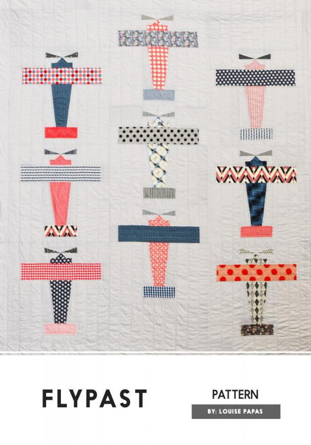 Flypast quilt sewing pattern by Louise Papas for Jen Kingwell Designs Collective