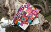 INVENTORY REDUCTION...Boho Heart quilt sewing booklet pattern by Jen Kingwell and Andrea Bair for Jen Kingwell Designs 2