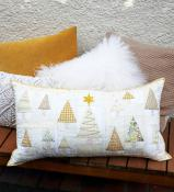 Champagne Christmas pillow cover sewing pattern by Louise Papas for Jen Kingwell Designs Collective 2