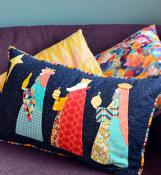 We Three Kings pillow sewing pattern by Louise Papas for  Jen Kingwell Designs Collective 2