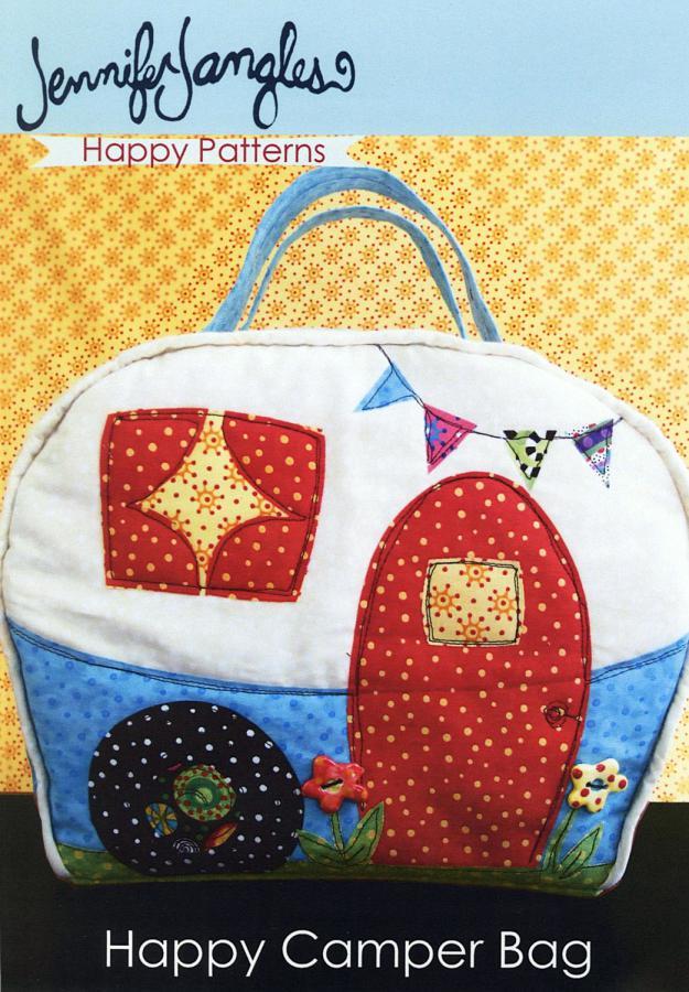 Happy Camper Bag sewing pattern from Jennifer Jangles
